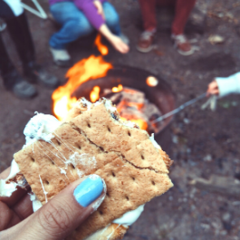 Campfire and s'mores
